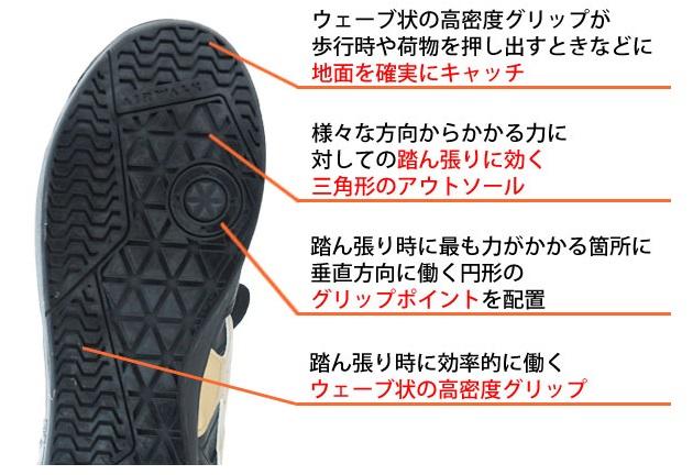 AIRWALK|安全靴|ローカット AW-600 AW-610アウトソール
