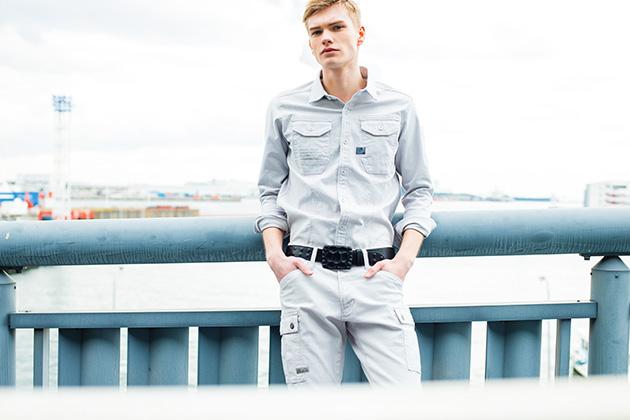 アイズフロンティア|春夏作業服|ストレッチツイル3Dワークシャツ 7901