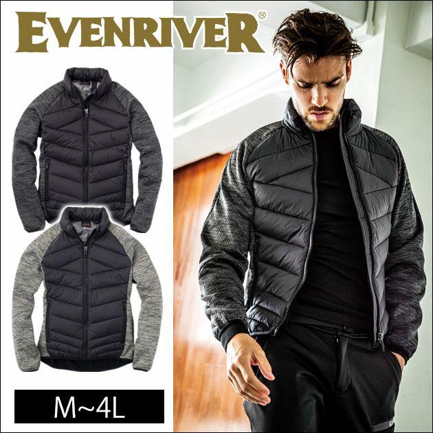 EVENRIVER|イーブンリバー|秋冬作業服|ハイブリットファイバーダウンジャケット R-157