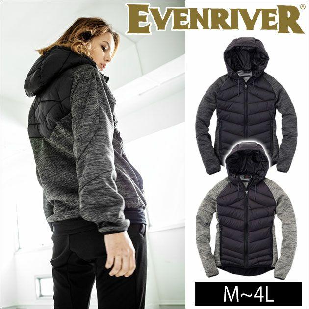 EVENRIVER|イーブンリバー|秋冬作業服|ハイブリットファイバーダウンパーカー R-158