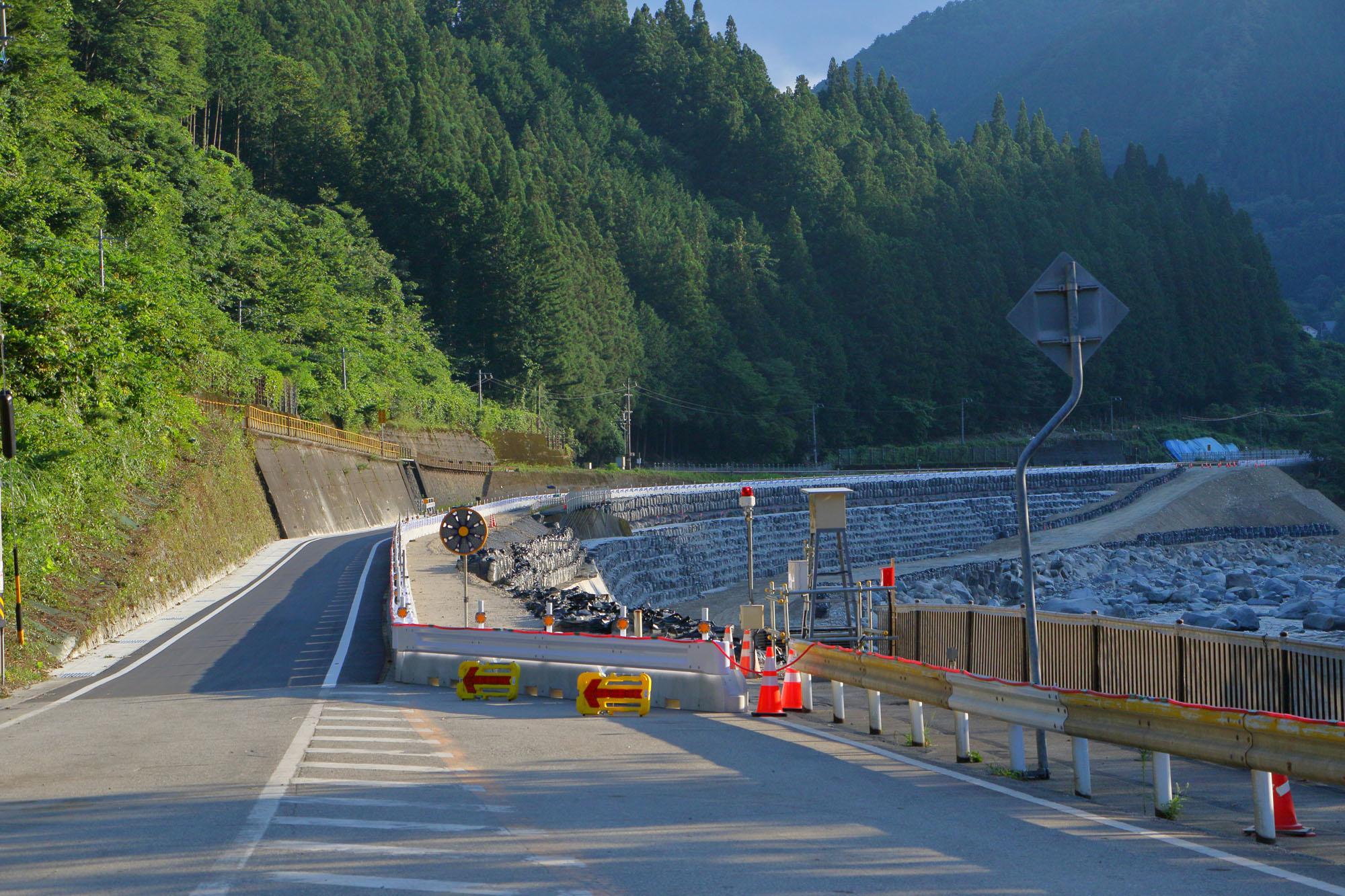 令和2年7月豪雨で被災復旧した国道41号線