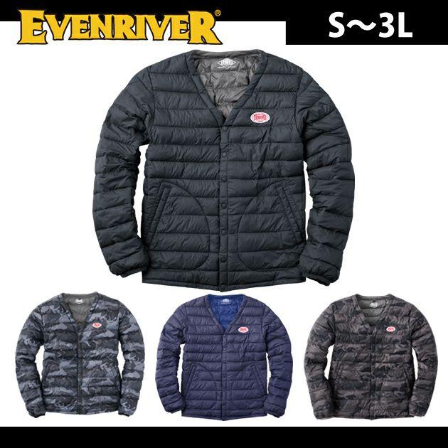 EVENRIVER|イーブンリバー|秋冬作業服|ライトファイバーダウンジャケット R-107