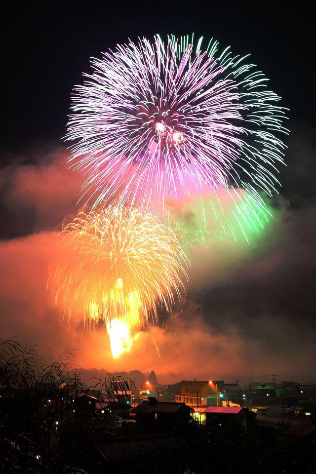 2020年秋開催の飛騨高山久々野大花火