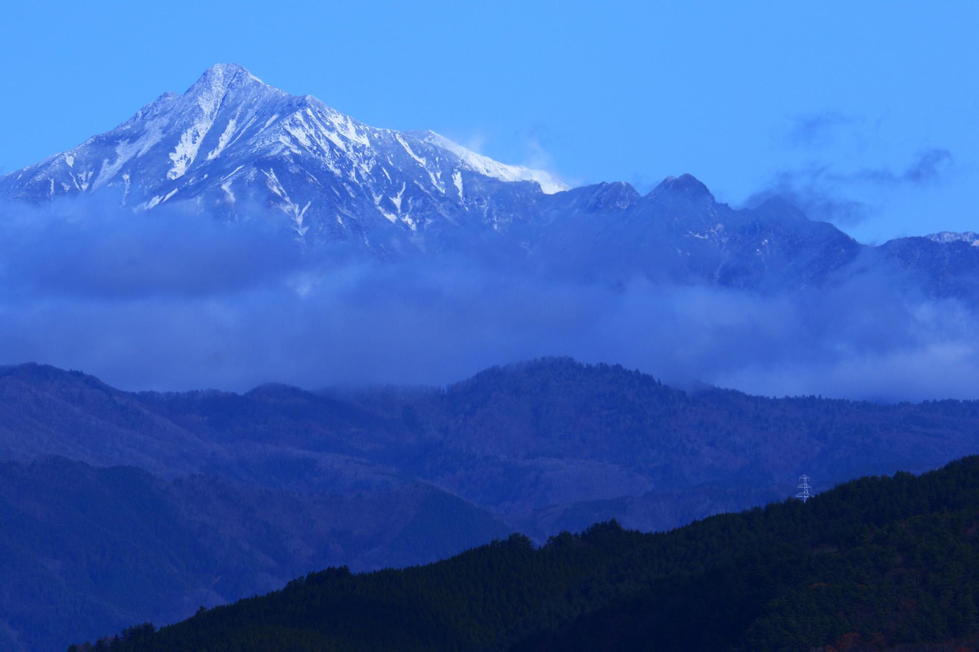 飛騨高山から見える笠ヶ岳