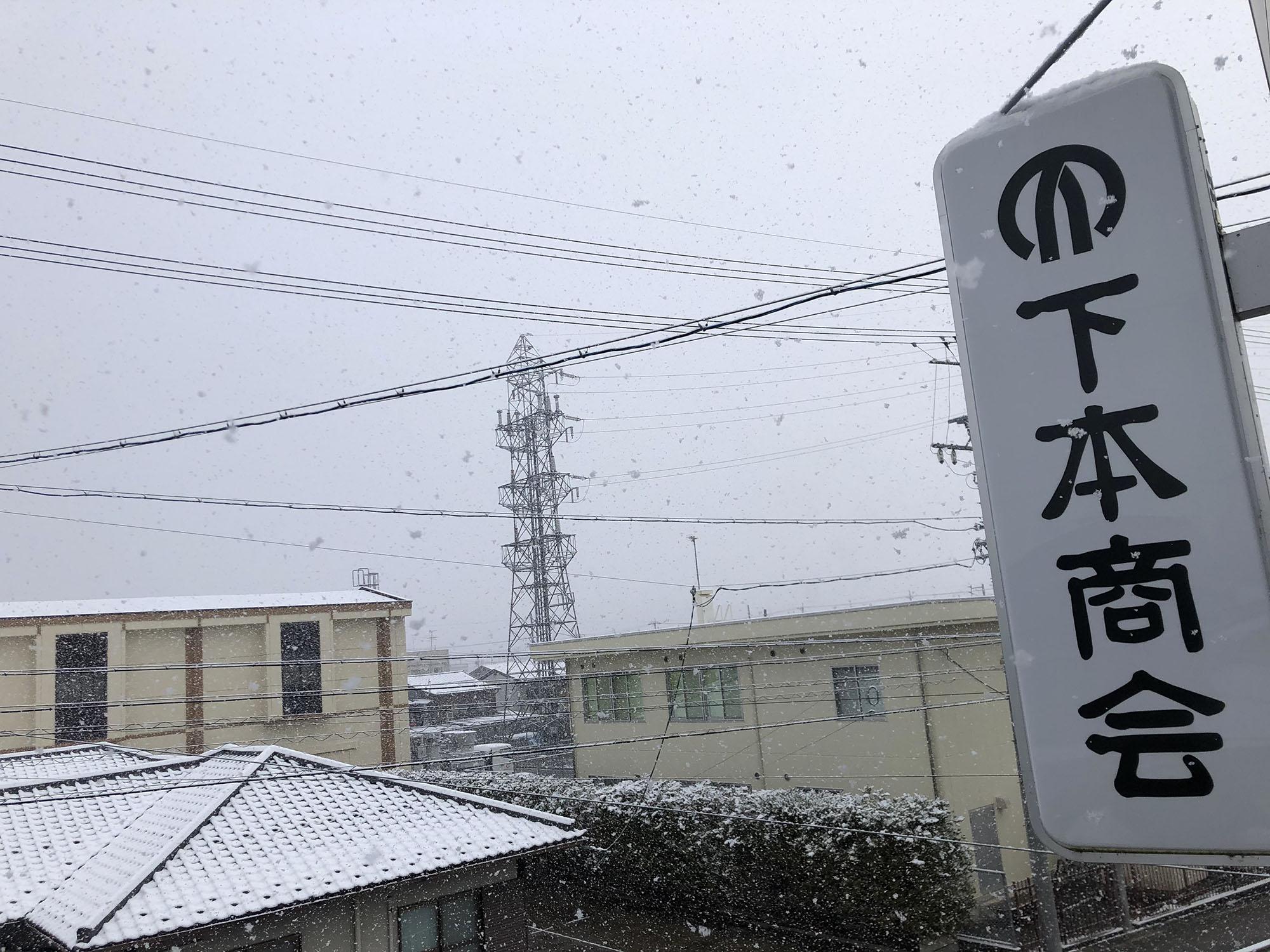 雪が積もる飛騨高山