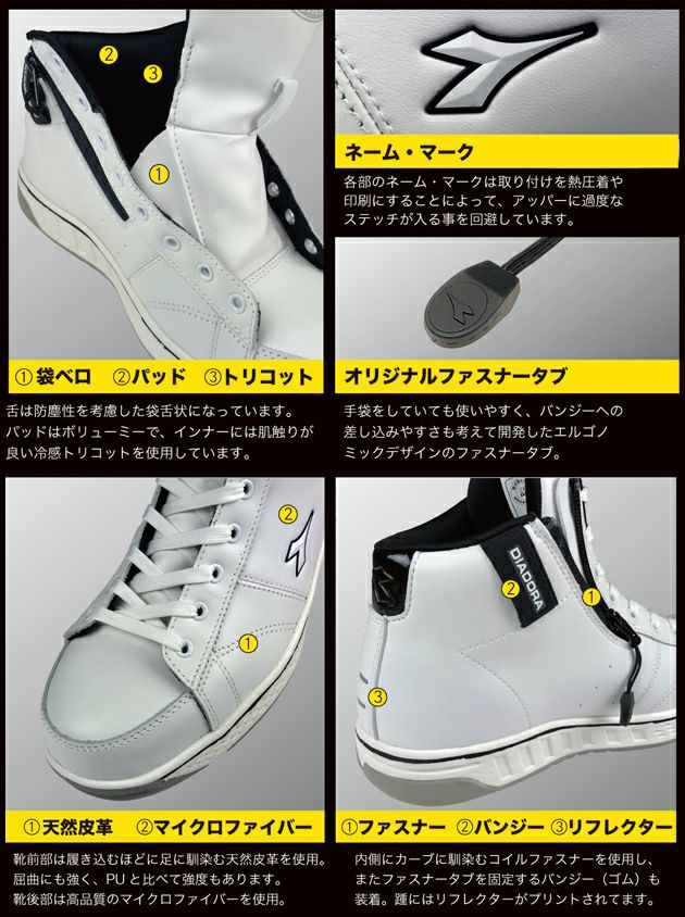 DIADORA|ディアドラ|安全靴|BUZZARD(バザード) BZ-111 BZ-221 BZ-331