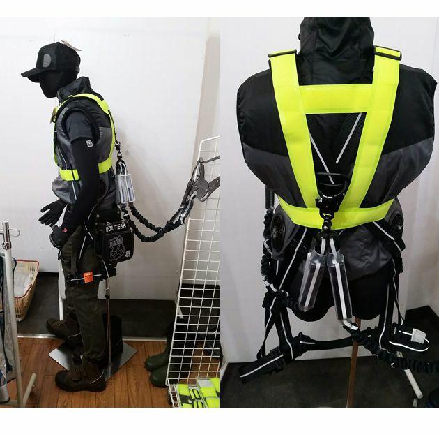 富士手袋工業|安全ベスト|ハーネス・電動ファン対応安全ベスト 8274
