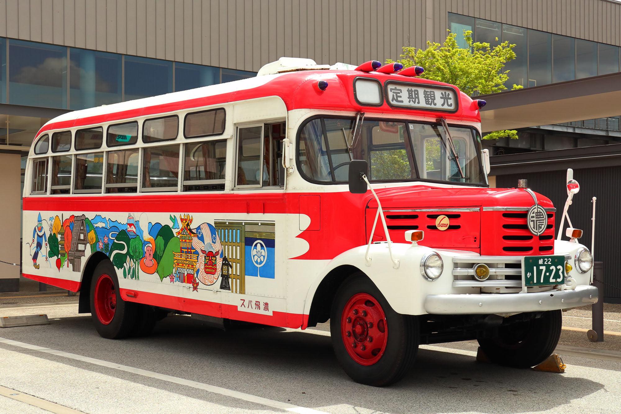 濃飛バスのボンネットバスに乗りました!