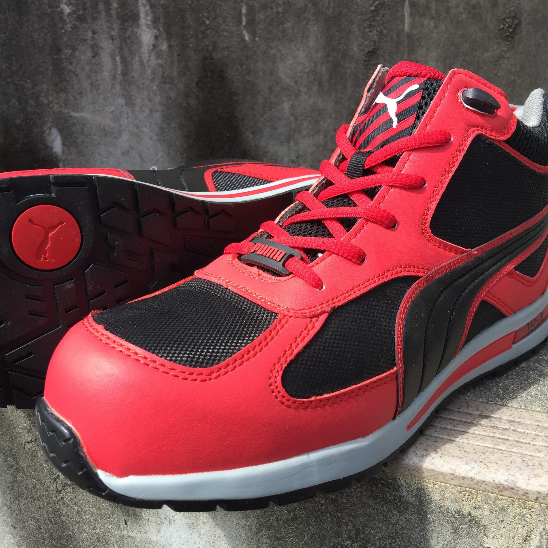 PUMA|安全靴|PUMA Fulltwist フルツイストミッド 63.201.0 63.202.0 プーマ 安全第一 赤黒