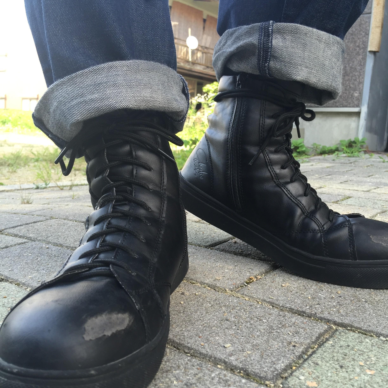チャーリー安全靴|CH001 セーフティーブーツブラックブラック