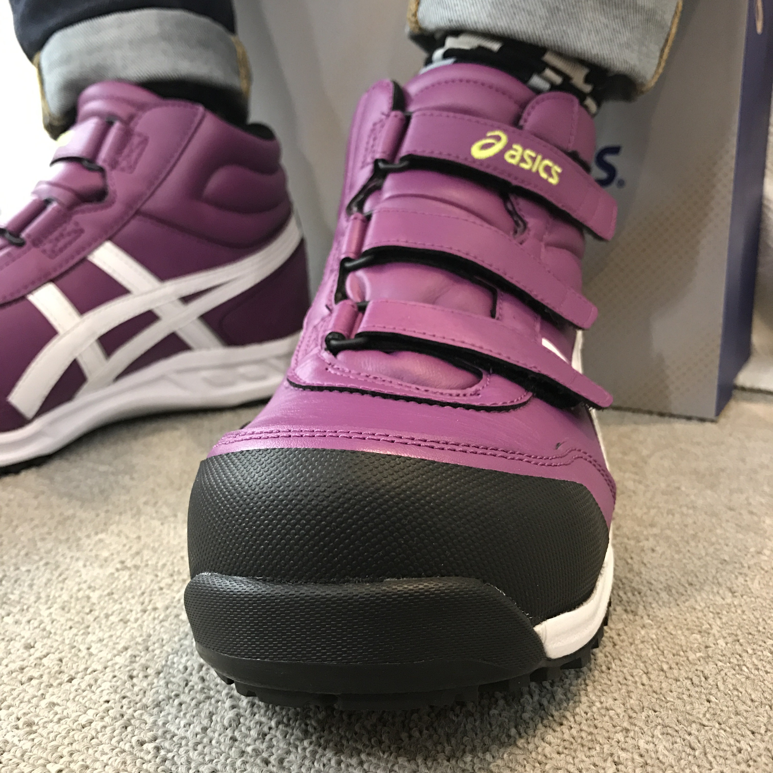 asics|安全靴|アシックス FIS53S/ウィンジョブ53S 限定カラー フロックスパープル×ホワイト