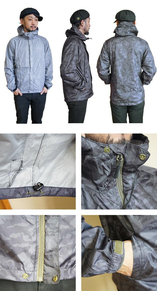 カジメイク|レインウェア|コンパクトレインジャケット メンズ #7830 レインジャケット おすすめ フェス キャンプ