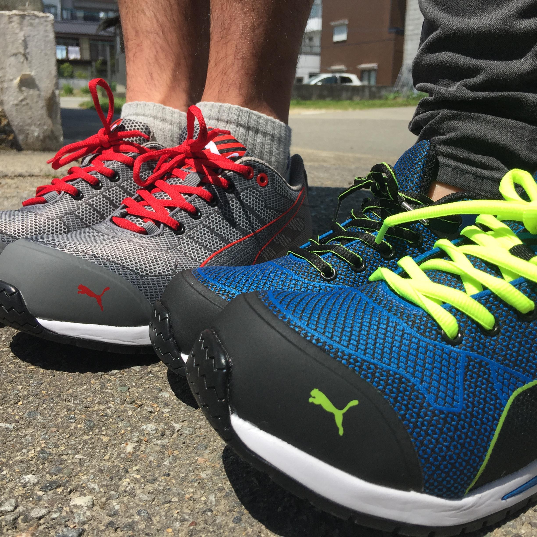 PUMA|安全靴| Blaze Knit Low ブレイズ・ニット・ロー ブルー レッド